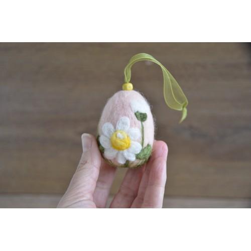 Розово яйце  маргаритки 6см